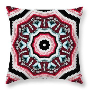 Food Mixer Mandala Throw Pillow