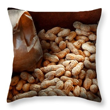 Food - Peanuts  Throw Pillow by Mike Savad