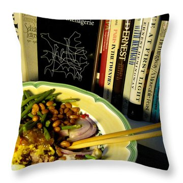 Foods And Thoughts Throw Pillow