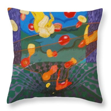 Foodsformation Throw Pillow