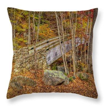 Foot Bridge Throw Pillow
