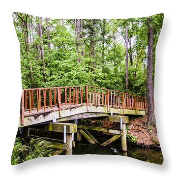 Foot Bridge Throw Pillow