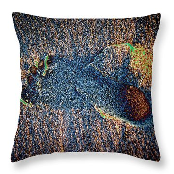 Throw Pillow featuring the photograph Foot In The Sand by Mariola Bitner