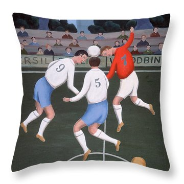 Football Throw Pillow by Jerzy Marek