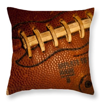Football Laces Throw Pillow