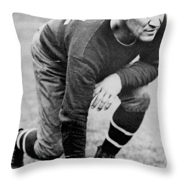 Football Player Jim Thorpe Throw Pillow