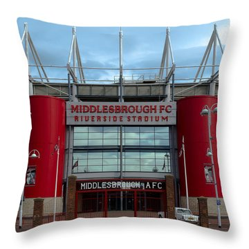 Football Stadium - Middlesbrough Throw Pillow