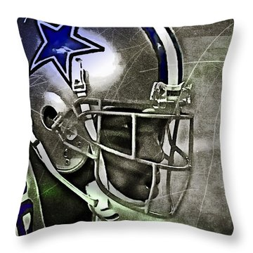 Football Star Throw Pillow