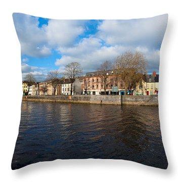 Footbridge Across A River, Millenium Throw Pillow