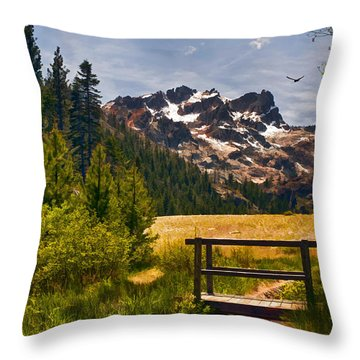Footbridge Throw Pillow