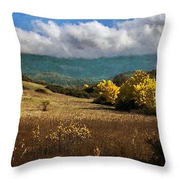 Foothill Autumn In Southern Oregon Throw Pillow by Mick Anderson