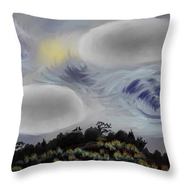 Foothills Sunrise On My Morning Walk Throw Pillow
