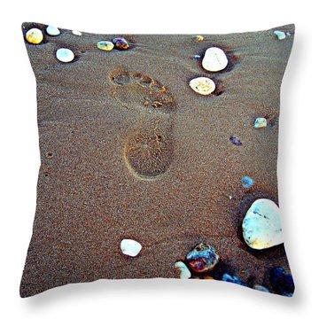 Footprint Throw Pillow by Nina Ficur Feenan