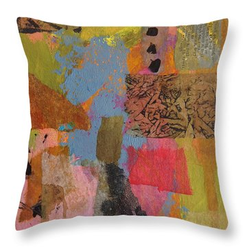 Throw Pillow featuring the mixed media Footprints by Catherine Redmayne