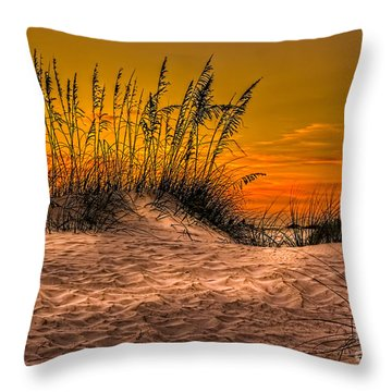 Footprints In The Sand Throw Pillow by Marvin Spates