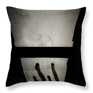 Footsteps And Faces Throw Pillow