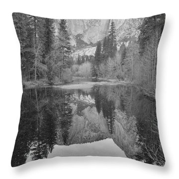 Footsteps Of Ansel Adams Throw Pillow by Debby Pueschel