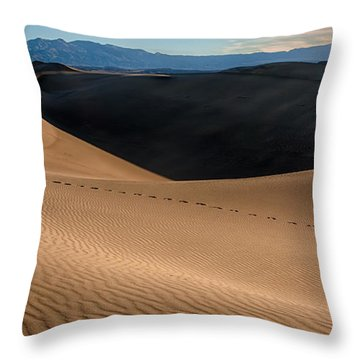 Footsteps Throw Pillow