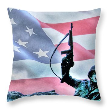 For Freedom Throw Pillow by Dan Stone
