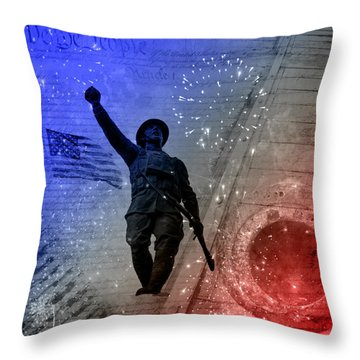 For Freedom Throw Pillow by Fran Riley