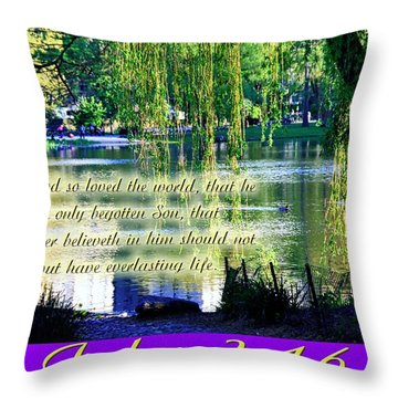 For God So Loved- Throw Pillow