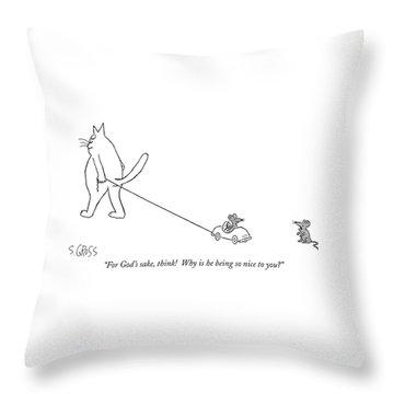 For God's Sake Throw Pillow