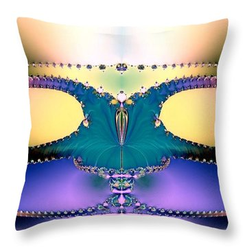 For Her Majesty Throw Pillow by Renee Trenholm