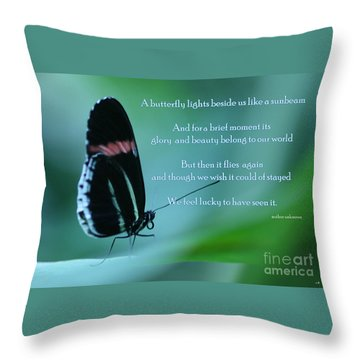 For Just A Little While Throw Pillow