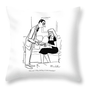 For Me? Why Throw Pillow