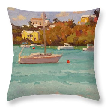 For Sail Throw Pillow by Dianne Panarelli Miller