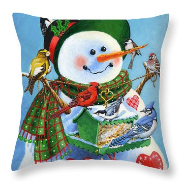 For The Birds Throw Pillow by Richard De Wolfe