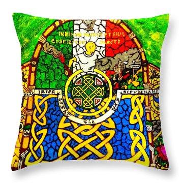 For The Families Of Irish Pows Throw Pillow by Brett Genda