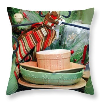 For The Kitchen Throw Pillow by Kathleen Struckle