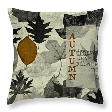 For The Love Of Autumnn Throw Pillow by Bonnie Bruno