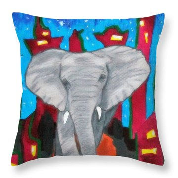For The Love Of Elephants Throw Pillow