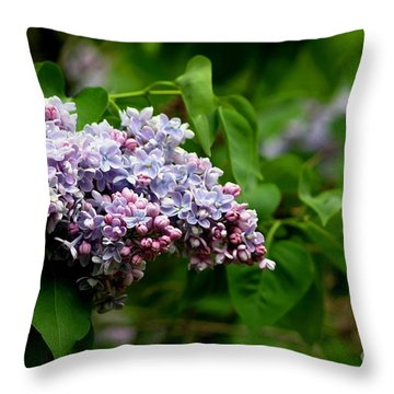 For The Love Of Lilac Throw Pillow