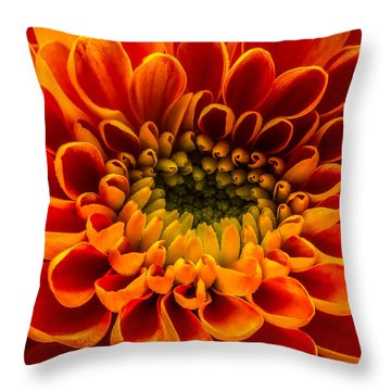 The Heart Of A Mum Throw Pillow