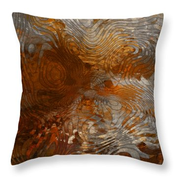 For The Love Of Rust Throw Pillow by Jack Zulli