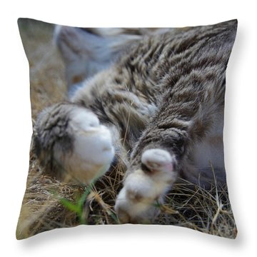 For The Love Of Stretching Throw Pillow by Marilyn Wilson