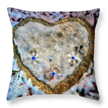 Throw Pillow featuring the photograph For The Love Of Winter by Deena Stoddard