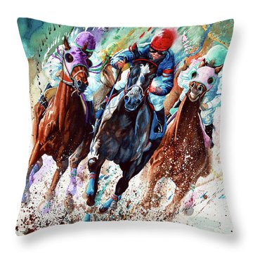 Preakness Stakes Throw Pillows