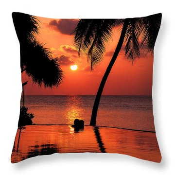 For You. Dream Coming True I. Maldives Throw Pillow by Jenny Rainbow