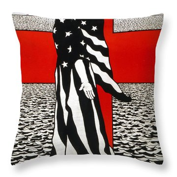 For You They Are Giving Their Lives Over There Throw Pillow