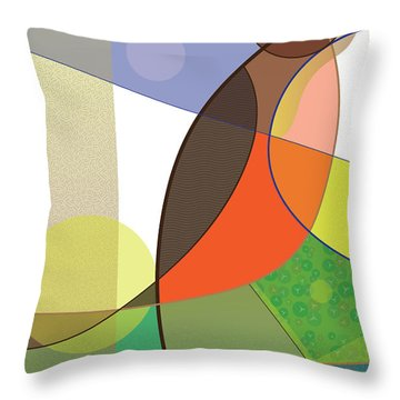 Foraging Robin Throw Pillow