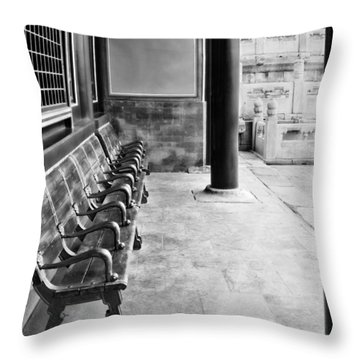 Forbidden City - Benches Throw Pillow