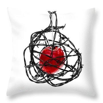 Forbidden Fruit Throw Pillow by Aaron Aldrich