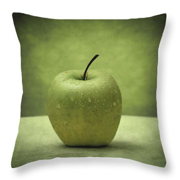 Forbidden Fruit Throw Pillow by Taylan Apukovska