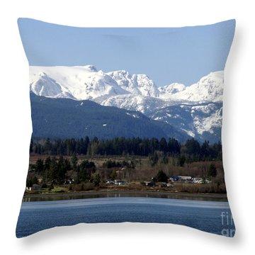 Forbidden Plateau Throw Pillow by Sharon Talson