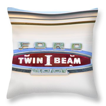 Ford 100 Twin I Beam Truck Emblem Throw Pillow