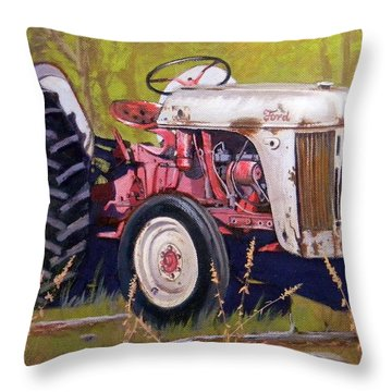 Ford 8n Throw Pillow